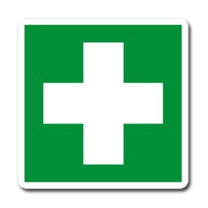 Emergenza simbolo + testo - Verticale - Nuova Norma UNI EN ISO 7010:2012