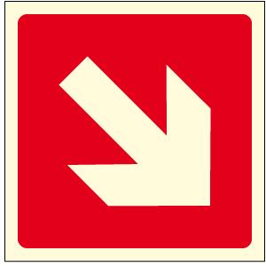 Fotoluminescenti Antincendio solo simbolo - Norma UNI 7543/1