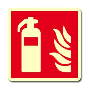 Fotoluminescenti antincendio simbolo + testo - Nuova Norma UNI EN ISO 7010:2012