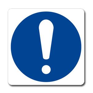 Obbligo simbolo + testo - Nuova Norma  UNI EN ISO 7010:2012