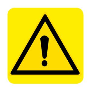 Pericolo simbolo + testo - Nuova Norma  UNI EN ISO 7010:2012