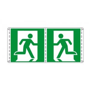 Bifacciali Emergenza solo simbolo -  Nuova Norma UNI EN ISO 7010:2012