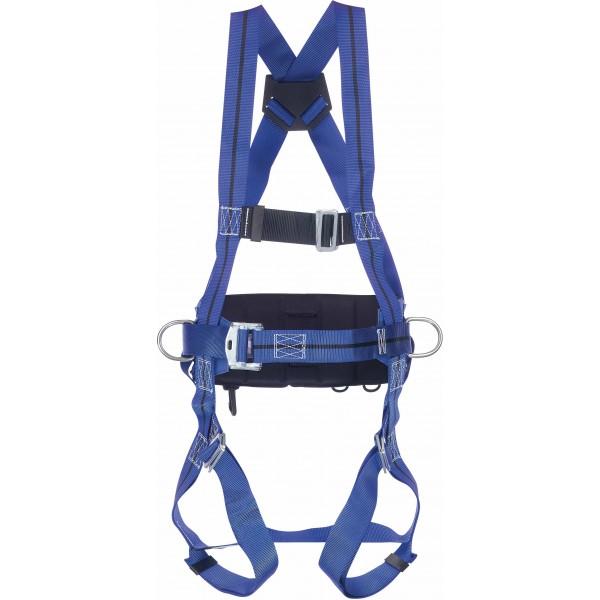 Imbracatura con 1 punto di atttacco dorsale con cintura