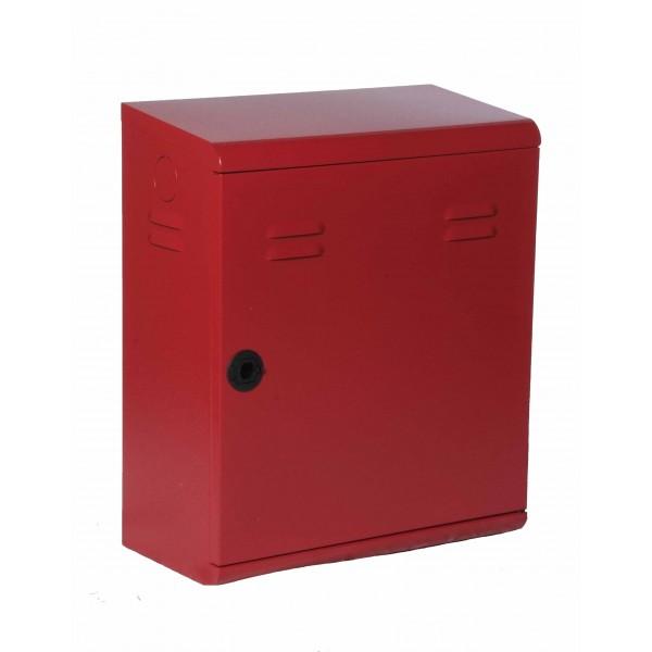 Cassetta uni 45 'serie luxury' con portello pieno rosso bucciato dim.450x220x532h