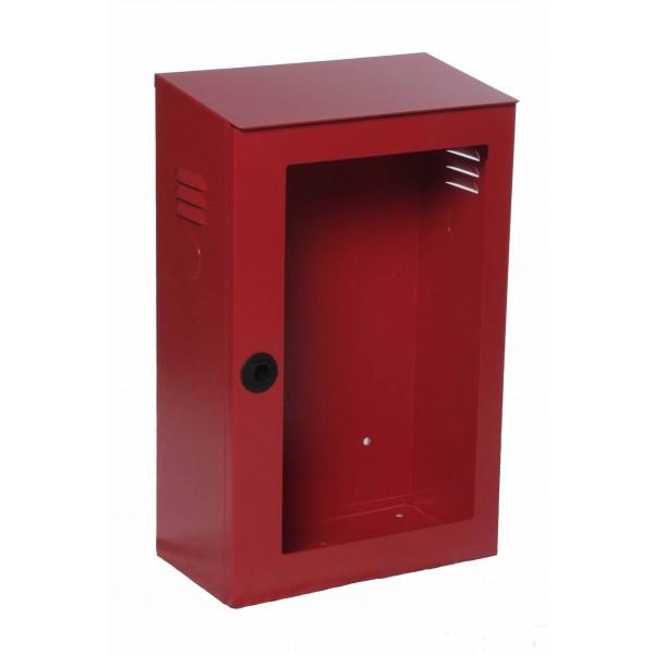 Cassetta uni 45 rossa ral3000 con portello per lastra safe window mis.375x200x600h (escluso lastra cod.0886)