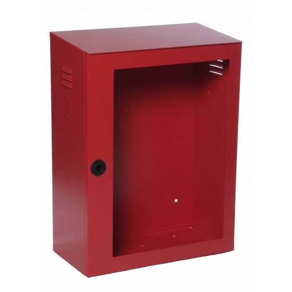 Cassetta uni 70 rosso ral3000 portello per lastra safe window dim.500x255x680h (esclusa lastra cod.9464)