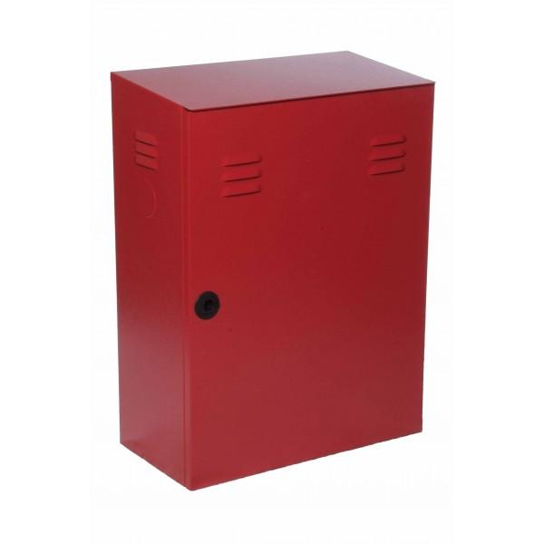 Cassetta uni 70 rossa ral3000 portello pieno dim.500x250x680h
