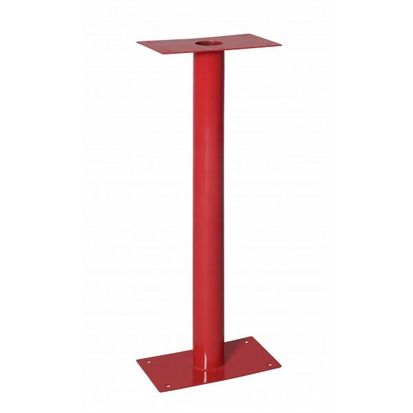 Piantana per cassetta uni45/70 rossa tubo diametro 80 dim.370x175x750h (0950a)