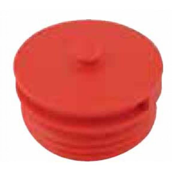 Tappo in polipropilene attacco filettato maschio verniciato rosso ral 3000 per gruppo attacco uni 10779