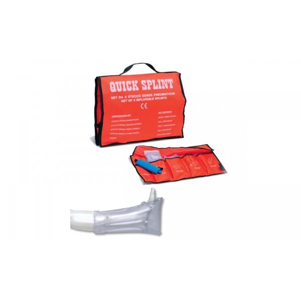 Quick splint steccobende pneumatiche set4 pz+pompa e custodia