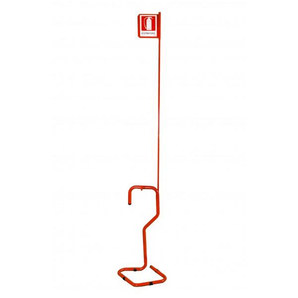 Piantana porta estintore con asta e cartello ( rosso )