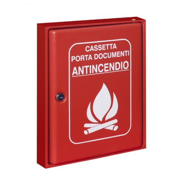 Cassetta p. documenti abs rosso dim. 305x366hx52
