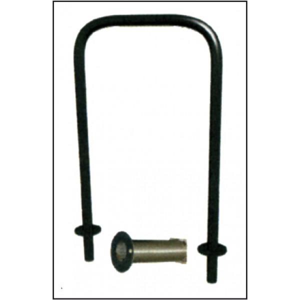 Archetto parapedonale estraibile inox diametro 48 mm h 1000 mm