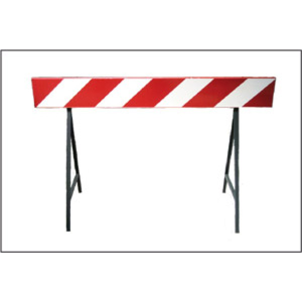 Barriera stradale bianco/rosso rifrangente mm 1500x200