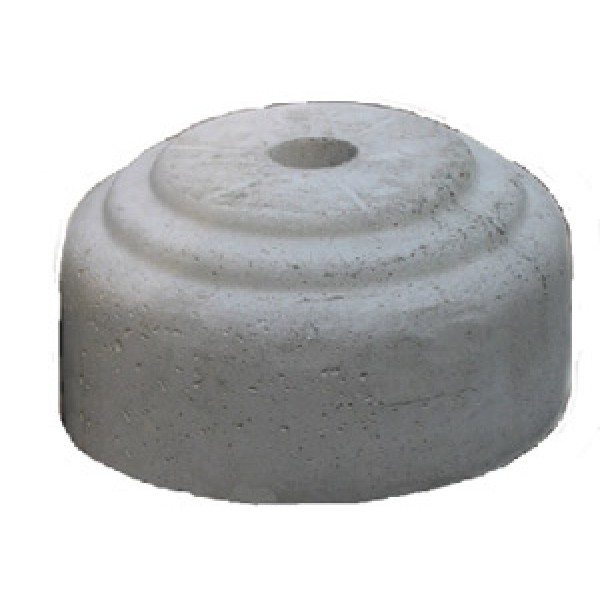 Base cemento per palo diametro 60 h 165 mm diametro 365 mm (bcp9060)