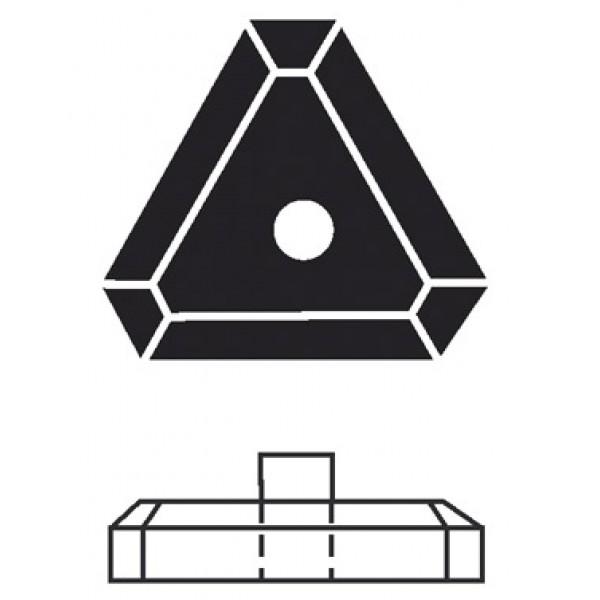 Base triangolare moplen e cemento lato mm 290 (pbp110)