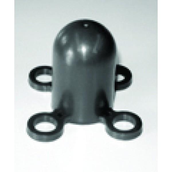 Cappellotto nero per paletti mobili diametro mm 40 (pc9901n)
