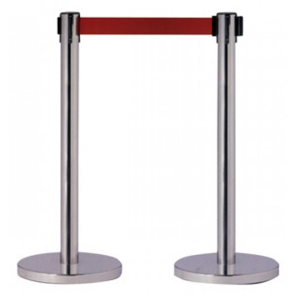 Colonna nera h mm 895 c/nastro bluminescente l 1600 mm