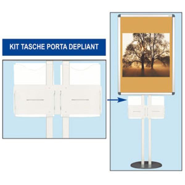 Kit 2 tasche orizzontali formato a4 - acrilico trasparente