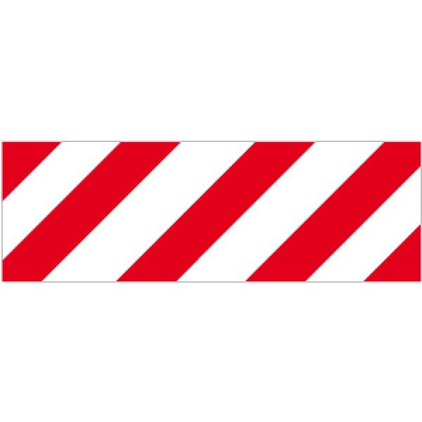 Pellicola autoadesiva rifrangente strisce bianco/rosso des.mm 450x150