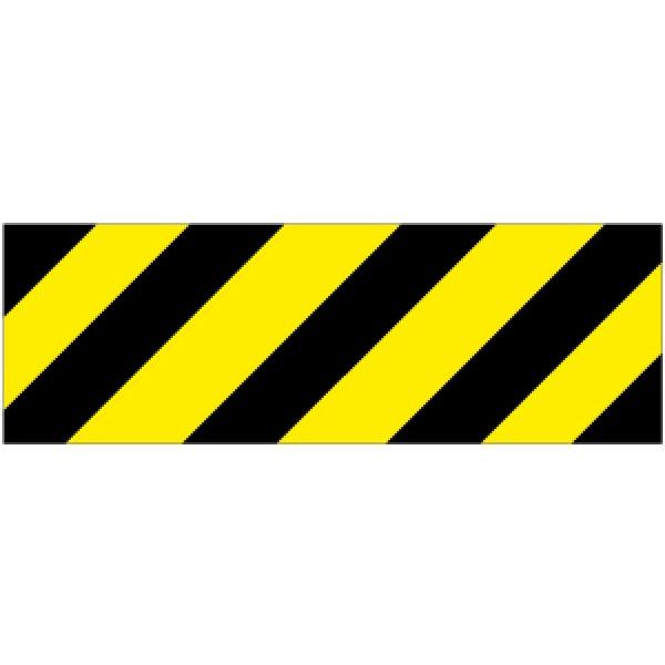 Pellicola autoadesiva rifrangente strisce giallo/nero des.mm 450x150