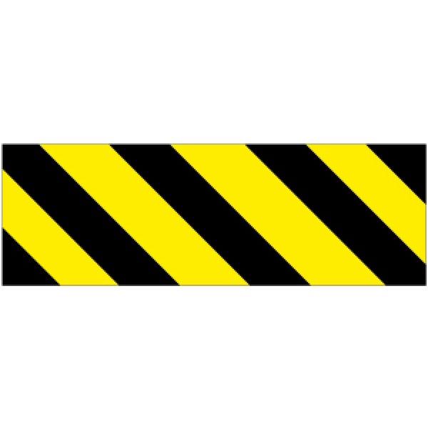 Pellicola autoadesiva rifrangente strisce giallo/nero sin.mm 450x150