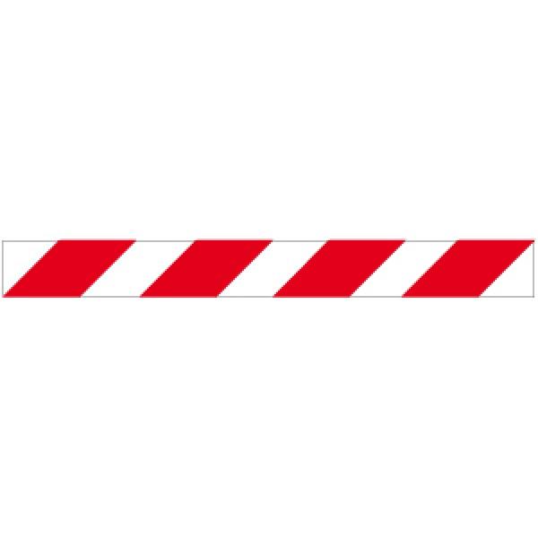 Profilo per ostacoli a strisce bianco/rosso rifrangente destro 1000x80
