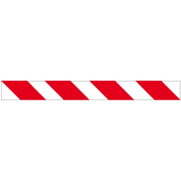 Profilo per ostacoli a strisce bianco/rosso rifrangente sinistro 1000x80