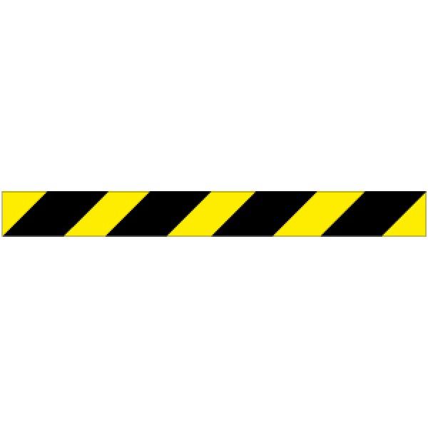 Profilo per ostacoli a strisce giallo/nero rifrangente  destro 1000x80