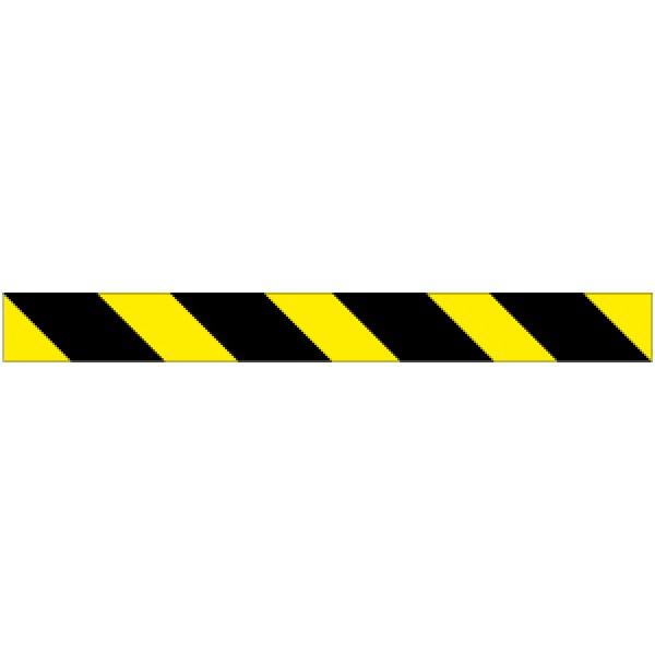 Profilo per ostacoli a strisce giallo/nero rifrangente sinistro 1000x80