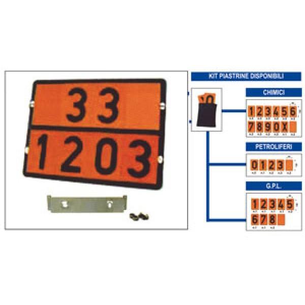 Pannello adr acciaio rifr. set 27 chimici formato mm 400x300