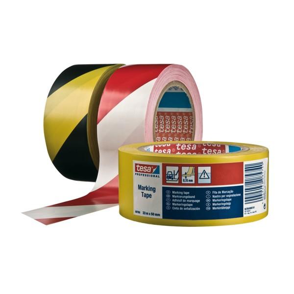 Nastro marking tape bianco / rosso mis. 33x50 mm