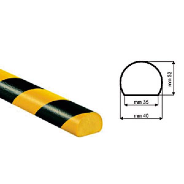 Paracolpi poliuretano tipo c giallo nero c/biadesivo