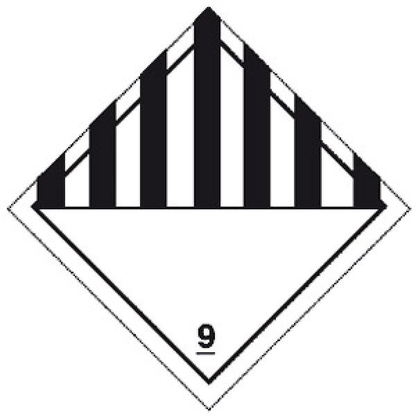 Etichetta autoadesiva formato 100x100 mm pericolo generico classe 9