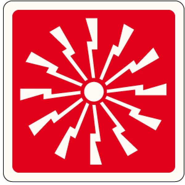 Cartello in alluminio formato mm 250 pittogramma sirena allarme incendio