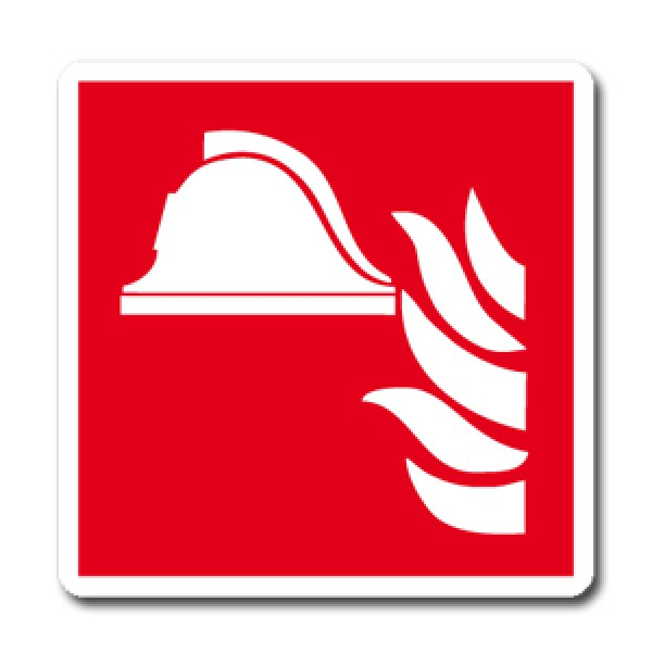 Cartello in alluminio lato mm 400 pittogramma presidio antincendio