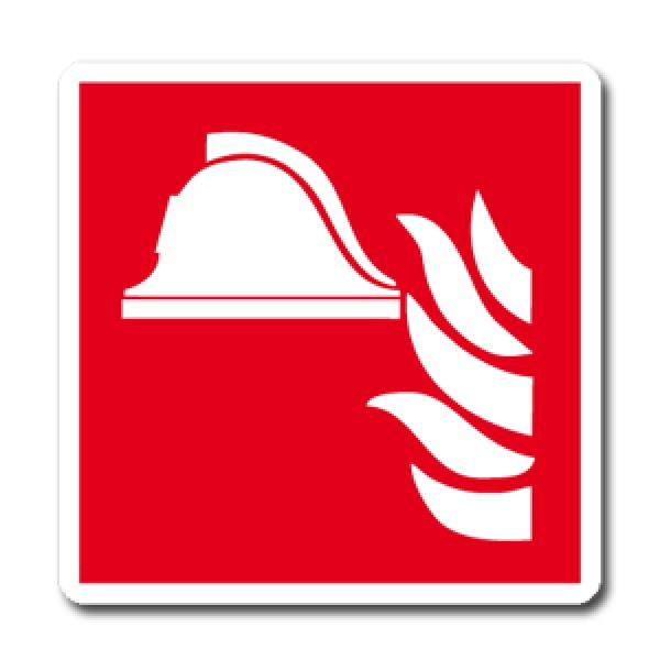 Etichetta autoadesiva lato mm 120 pittogramma presidio antincendio