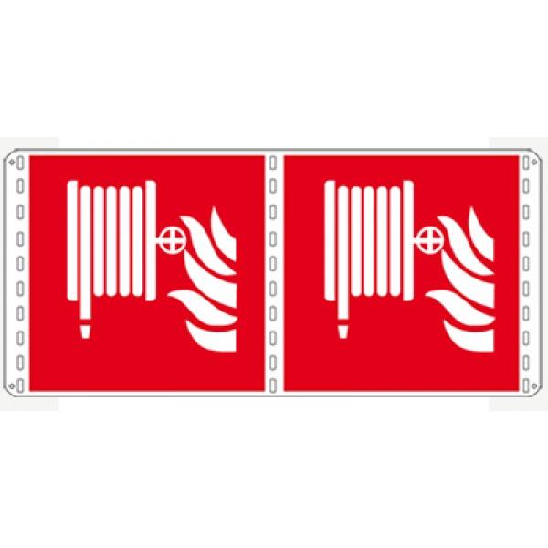 Cartello in alluminio formato mm 120x150 bifacciale lancia antincendio