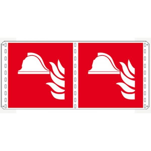 Cartello in alluminio lato mm 250 bifacciale pittogramma presidio antincendio