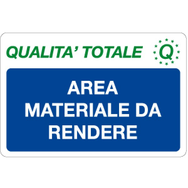 Cartello in alluminio formato mm 300x200 area materiale da rendere