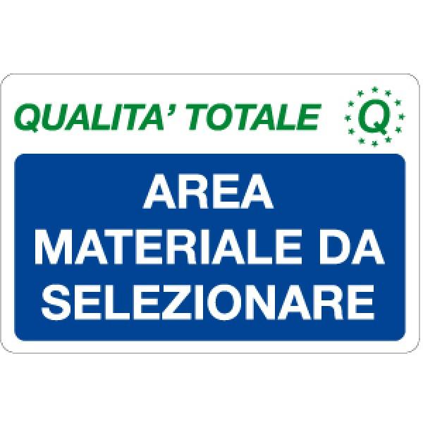 Cartello in alluminio formato mm 300x200 area materiale da selezionare