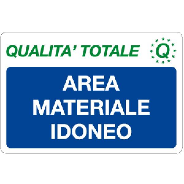 Cartello in alluminio formato mm 300x200 area materiale idoneo