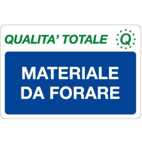 Cartello in alluminio formato mm 300x200 materiale da forare