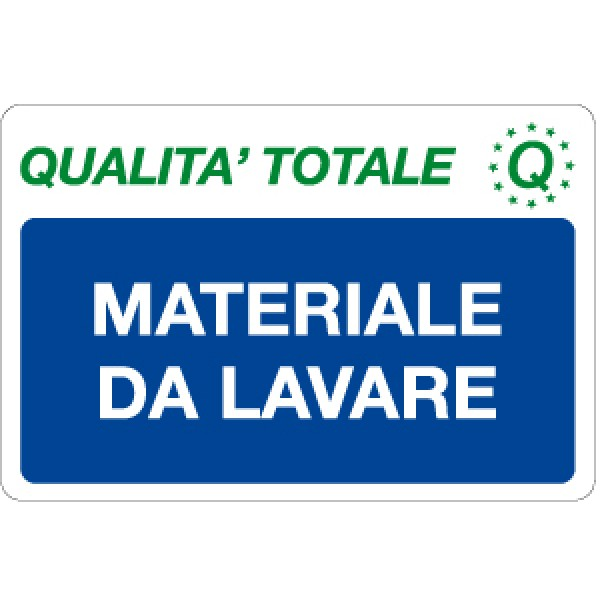 Cartello in alluminio formato mm 300x200 materiale da lavare