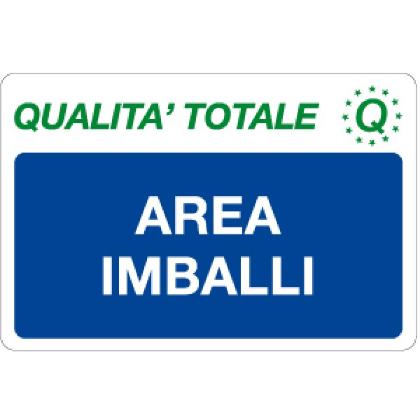 Cartello in alluminio formato mm 500x330 area imballi