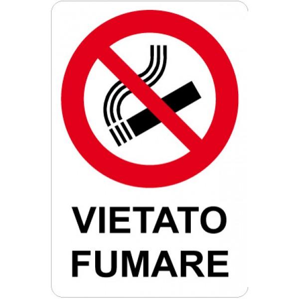 Cartello in alluminio formato mm 200x300 vietato fumare