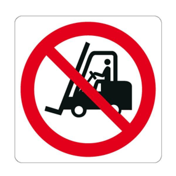 Cartello in alluminio formato mm 330x250 vietato il transito ai carrelli (p006740m)
