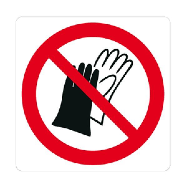 Cartello in alluminio formato mm 330x250 vietato indossare guanti (p028828m)