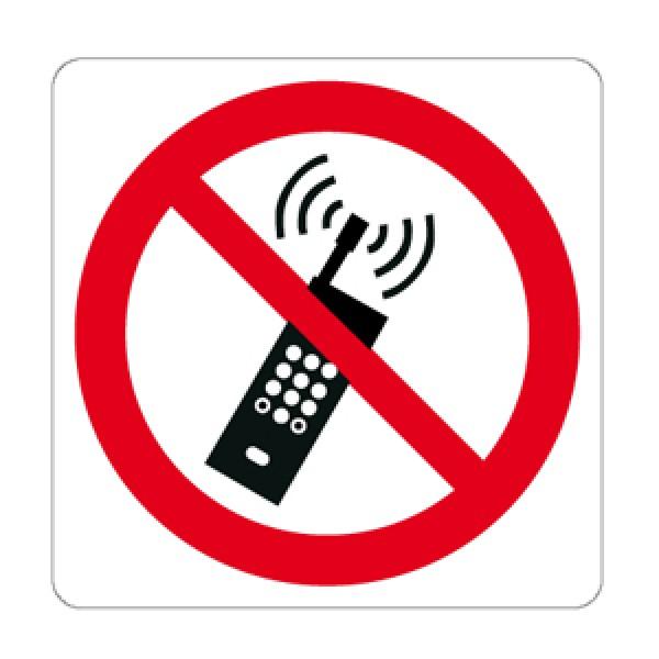 Cartello in alluminio formato mm 330x250 vietato l'uso del tel cell (p0131421m)