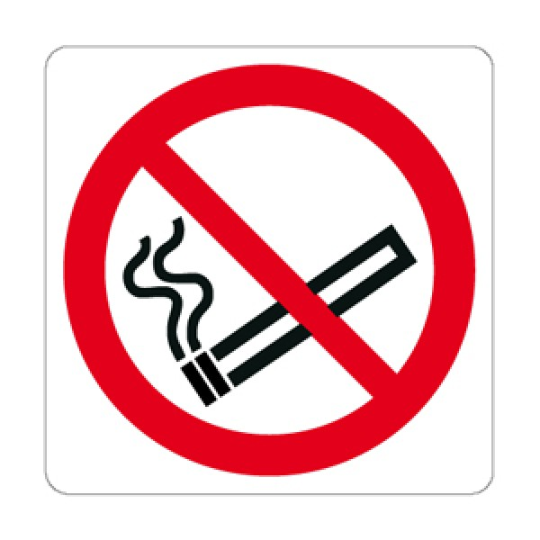 Cartello in alluminio formato mm 330x500 vietato fumare (ingl. fr. ted)